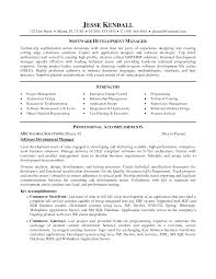 Software Developer Resume Example Resume Development Manager Resume