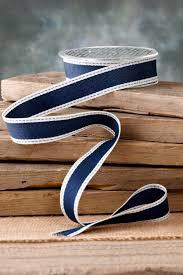 woven ribbon ribbon navy 1in x 10yds