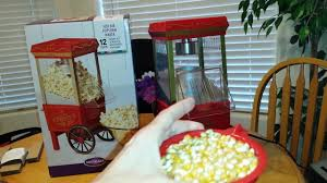 popcorn machine light bulb nostalgia air popcorn maker machine youtube
