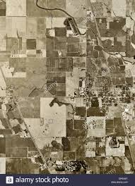 Elk Grove Ca Map Historical Aerial Photograph Elk Grove Sacramento County Stock
