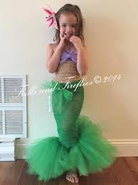 Mermaid Halloween Costume Toddler Mermaid Tutu Costume Flower Frillsandfireflies