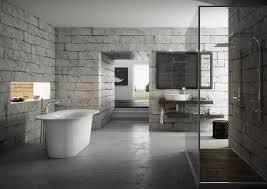grey brick bathroom design bath salon hd wallpaper haammss