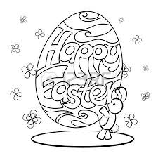 823 easter colouring cliparts stock vector royalty free