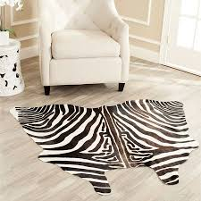 intersting simple living room with zebra print rug design ideas