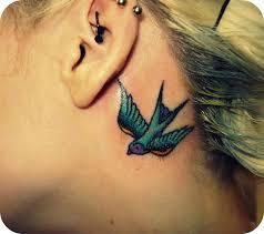 bird behind ear tattoo meaning best tattoo 2017