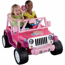 toddler motorized car fisher price power wheels barbie jammin u0027 jeep wrangler 12 volt
