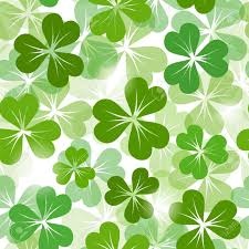 st patrick s day seamless background with shamrock vector eps 10