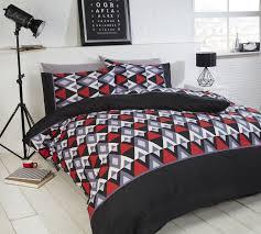 Black Duvet Cover King Size King Size Red And Black Bedding Ktactical Decoration