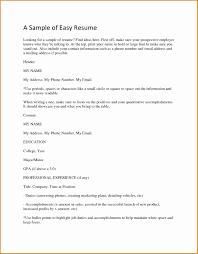 basic resume exle sle of basic resume fungram co