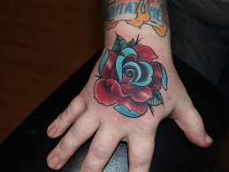 20 rose tattoos on hand for girls