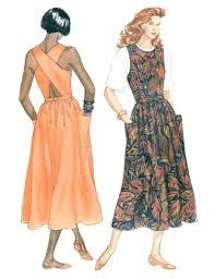 jumper dress sewing pattern 6 12 sundress criss cross back full