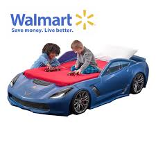 step2 corvette toddler to bed with lights corvette z06 toddler to bed blue retailer exclusive step2