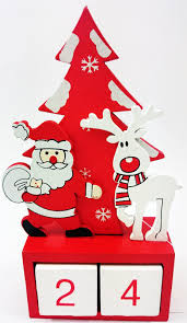 wooden advent xmas cute santa u0026 rudolf countdown calendar room