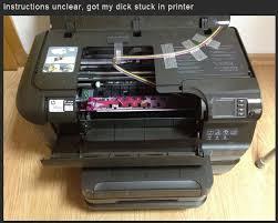 Printer Meme - printer instructions unclear know your meme