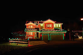 The Best Christmas Light Displays by Red Christmas Lights On House Ne Wall