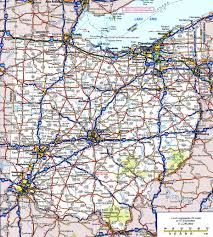 road map ohio road map