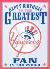 new york yankees greatest fan birthday card greeting card