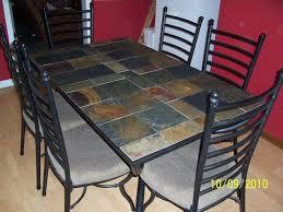 tile top dining room tables slate tile top dining tables set dining table design ideas intended