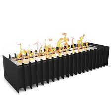 home decor bio ethanol fireplace insert industrial looking