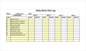 Workout Excel Template Workout Log Template 14 Free Word Excel Pdf Vector Eps