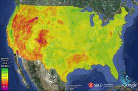 first geothermal energy map of the usa now in google watts up