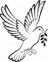 wedding design dove birds logo for peace concept and wedding design stock