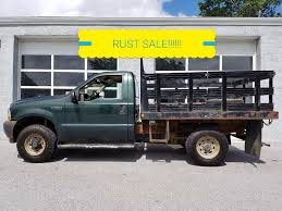 2006 Ford F250 Utility Truck - 2003 used ford super duty f 250 xl 4x4 8 foot stake body rust at