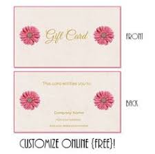free printable and editable gift certificate templates makeup