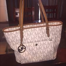 light brown mk purse michael kors bags creamlight brown tote purse poshmark