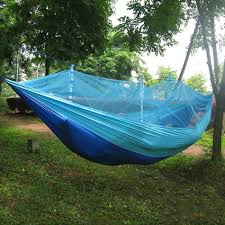 clip on backpack portable parachute hammock with bug free net