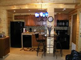 comely image of l shape rustic cabin kitchens decoration using