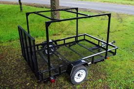 A Frame Ladder Lowes by Here Is A Lowes Utility Trailer With A Diy No Weld Trailer Rack