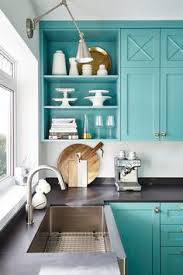 SherwinWilliams Composed SW  Paint Colors Pinterest - Turquoise kitchen cabinets