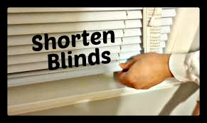 how to correctly shorten window blinds hd youtube