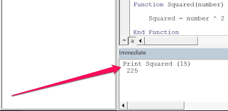 vba function procedures create and execute user defined functions