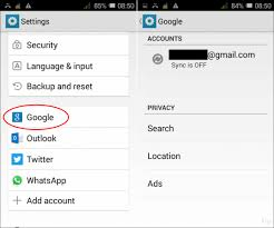 remove account android remove or change accounts on an android device