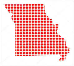 Map Of The State Of Missouri by Red Dot Map Of Missouri U2014 Stock Vector Bigalbaloo 87164294