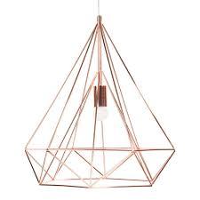 suspension maison du monde suspension en métal d 45 cm copper maisons du monde