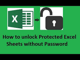how to unlock protected excel sheets without password youtube
