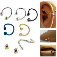 steel lip rings images 5pcs helix piercing stainless steel nose open hoop ring ear bones jpg