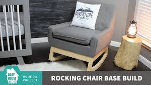 rocking chair base build diy youtube