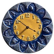zodiac design ceramic art wall clock original design sculpted by