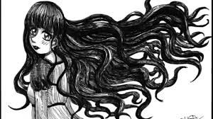 how to draw and ink very long wavy anime hair youtube