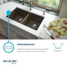 Elkay Kitchen Sink Elkay Quartz Classic 25 X 19 Undermount Kitchen Sink Reviews