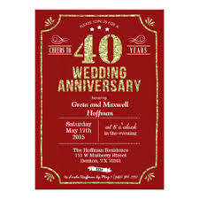40th wedding anniversary invitations 900 40th wedding