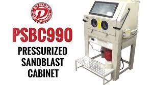pressurized sandblast cabinet psbc990 dynamo youtube