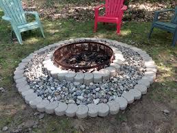 Round Brick Fire Pit Design - backyard fire pit ideas pinterest home outdoor decoration