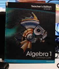 amazon com pearson algebra 1 common core vol 1 teacher u0027s
