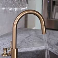 gold kitchen faucet delta gold trinsic kitchen faucet chic and functional in