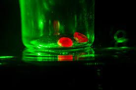 Monochromatic Light File Artificial Ruby Hemisphere Under A Monochromatic Light Jpg